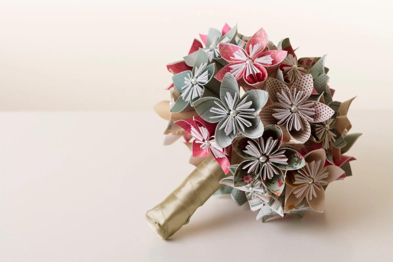 Origami Flower Bouquet Origami Bouquet Paper Flower Bouquet