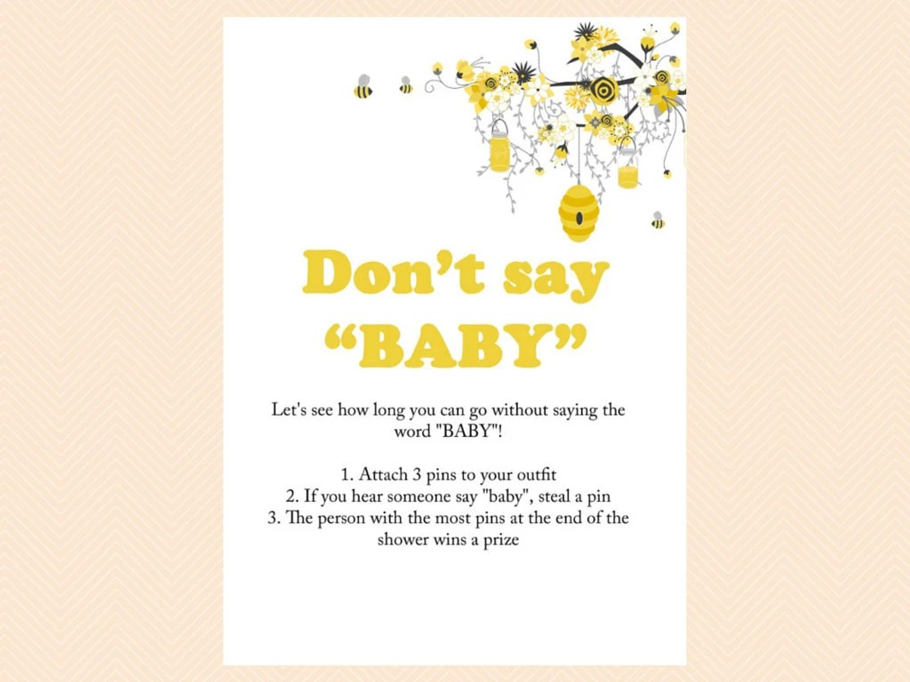 Don T Say Baby Pin Game Diaper Pin Sign By Magicalprintable