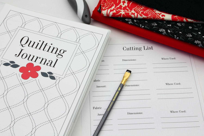 Quilting Journal Printable Quilt Journal Binder Set