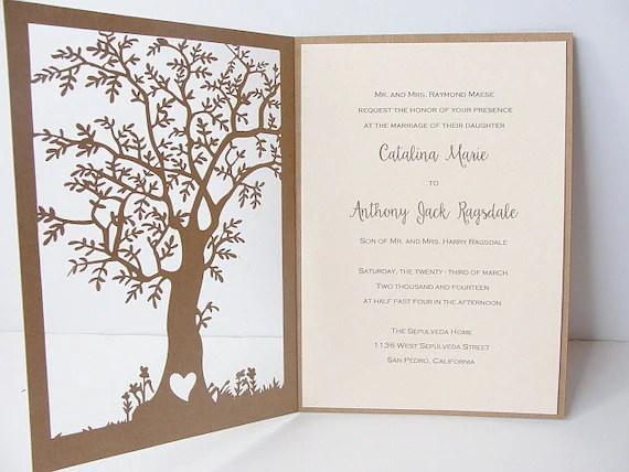 Laser Cut Tree Invitations