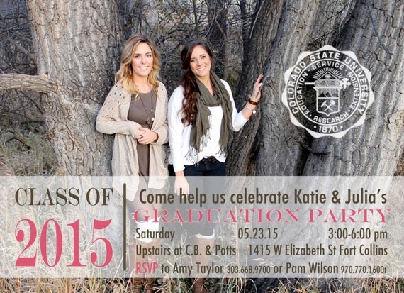 One Sided Graduation Announcements