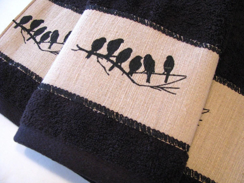 Bath Towels Towels Hand Towel Tan Bathroom Black