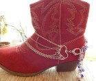 Boot Bracelet -Ladies Boot Bracelet-Five Chain Boot Bracelet