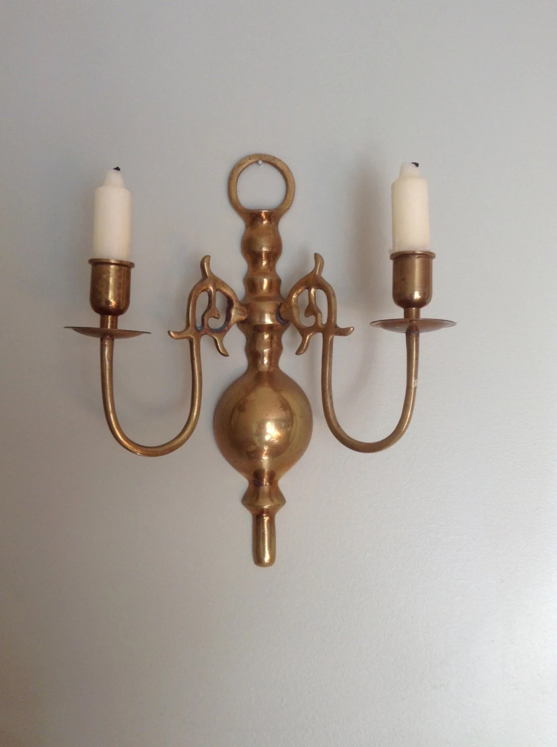 Brass Candle Holder Wall Mount Brass Candle Holder Scone on Wall Mounted Candle Holder id=26653