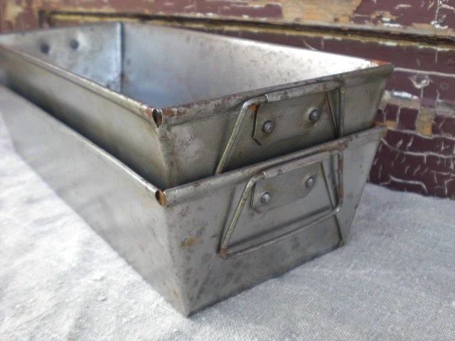 Metal French Bread Loaf Pan Baking Pan With Handles Old Rustic