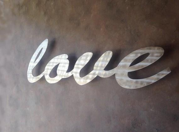Love Large Metal Wall Art Word Art Love Art By INSPIREMEtals