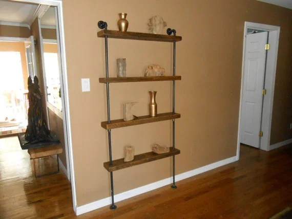 Reclaimed Wood Shelf Industrial Shelving Unit By