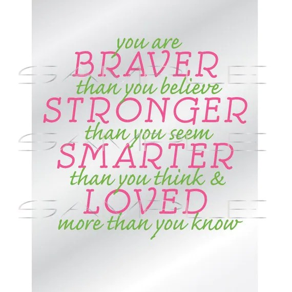 Download You are braver than you believe strong than you seem smarter