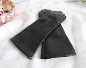 Black Nylon Gloves with C...