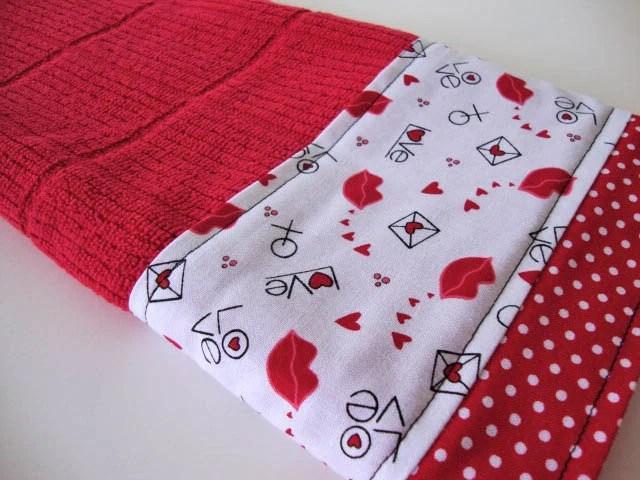 Hand Towel Tea Valentine Kitchen Bath