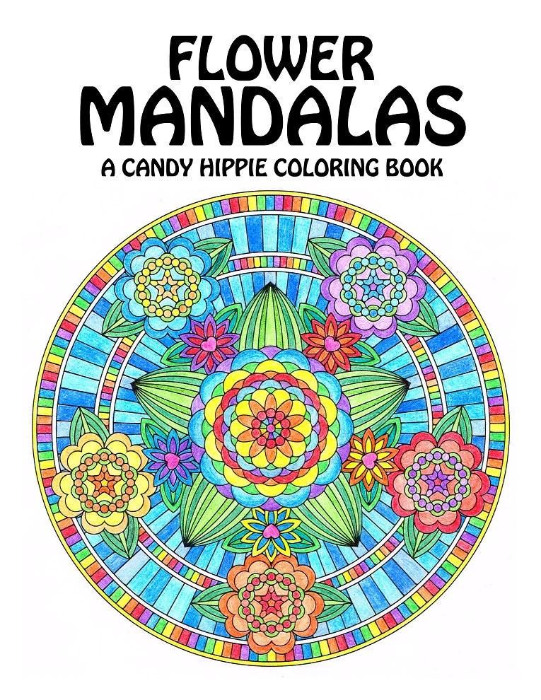 Flower Mandalas Adult Coloring Book printable mandala   coloring books for adults mandala
