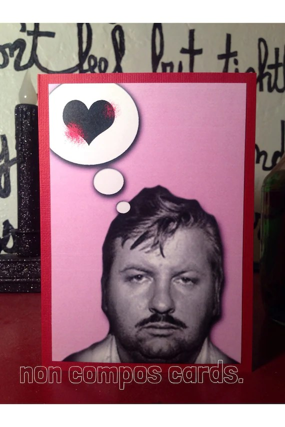 John Wayne Gacy Killer Clown valentine