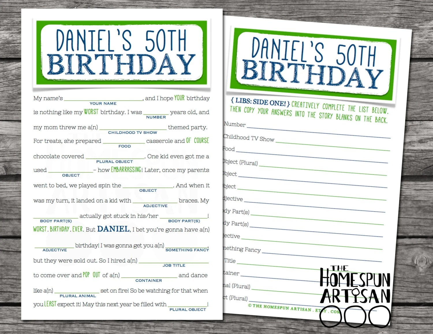 Adult Birthday Mad Libs Teens Too Printable By