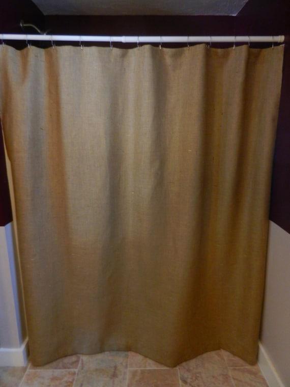 Burlap Shower Curtain72X72 Seamless No Extra