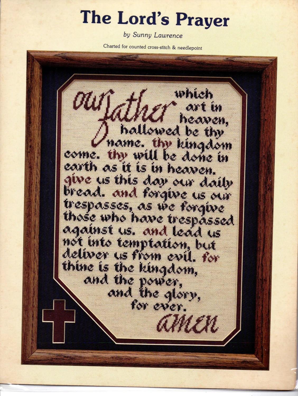 The Lords Prayer Cross Stitch Amp Needlepoint Pattern Spiritual