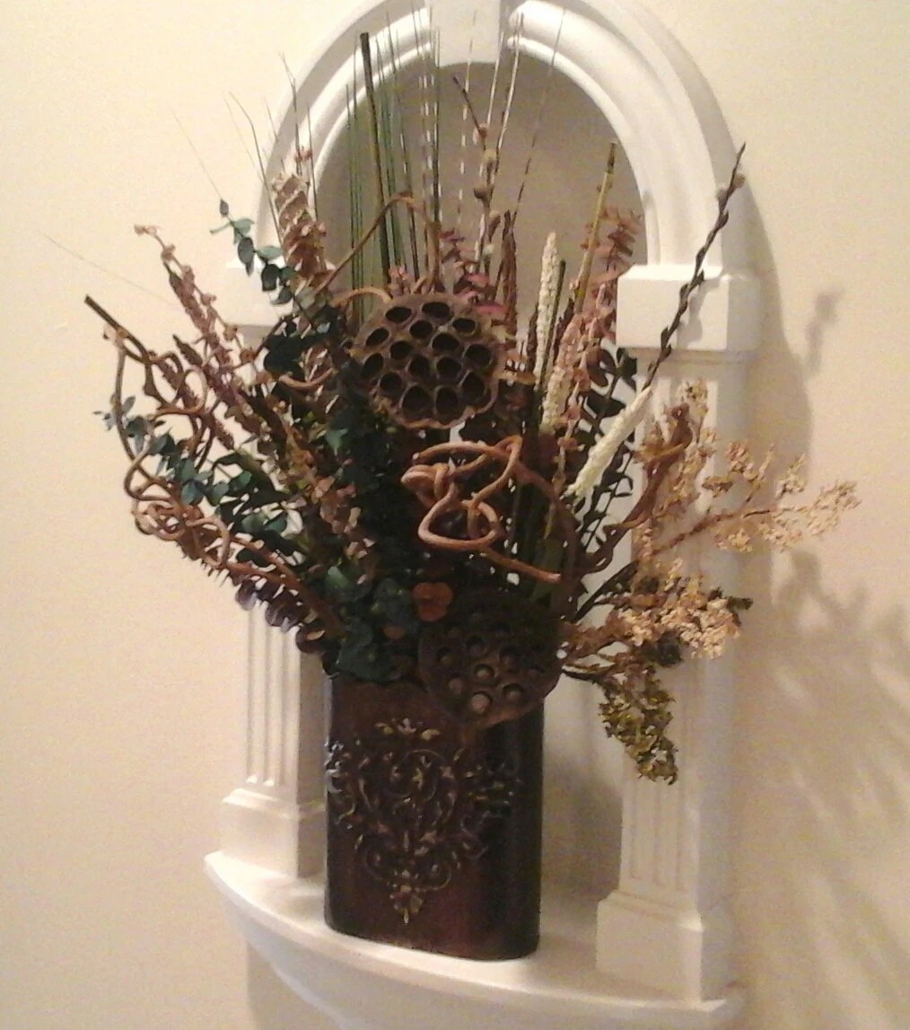 Dried Floral Wall Planter Wall Pocket Floral Wall Sconce on Pocket Wall Sconce For Flowers id=63391