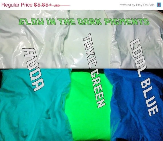 ON SALE NOW Glow in the Dark Luminescent Powder Pigment