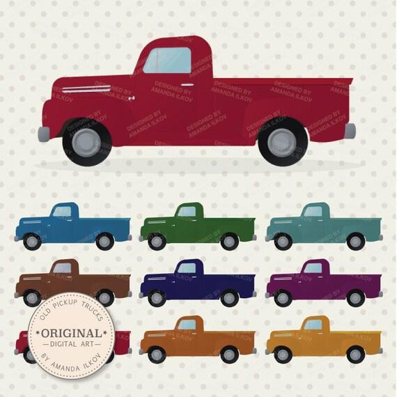 Pickup Clip Tree Old Art Trucks