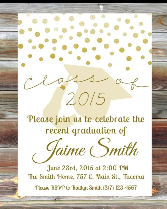 Custom Grad Party Invitations