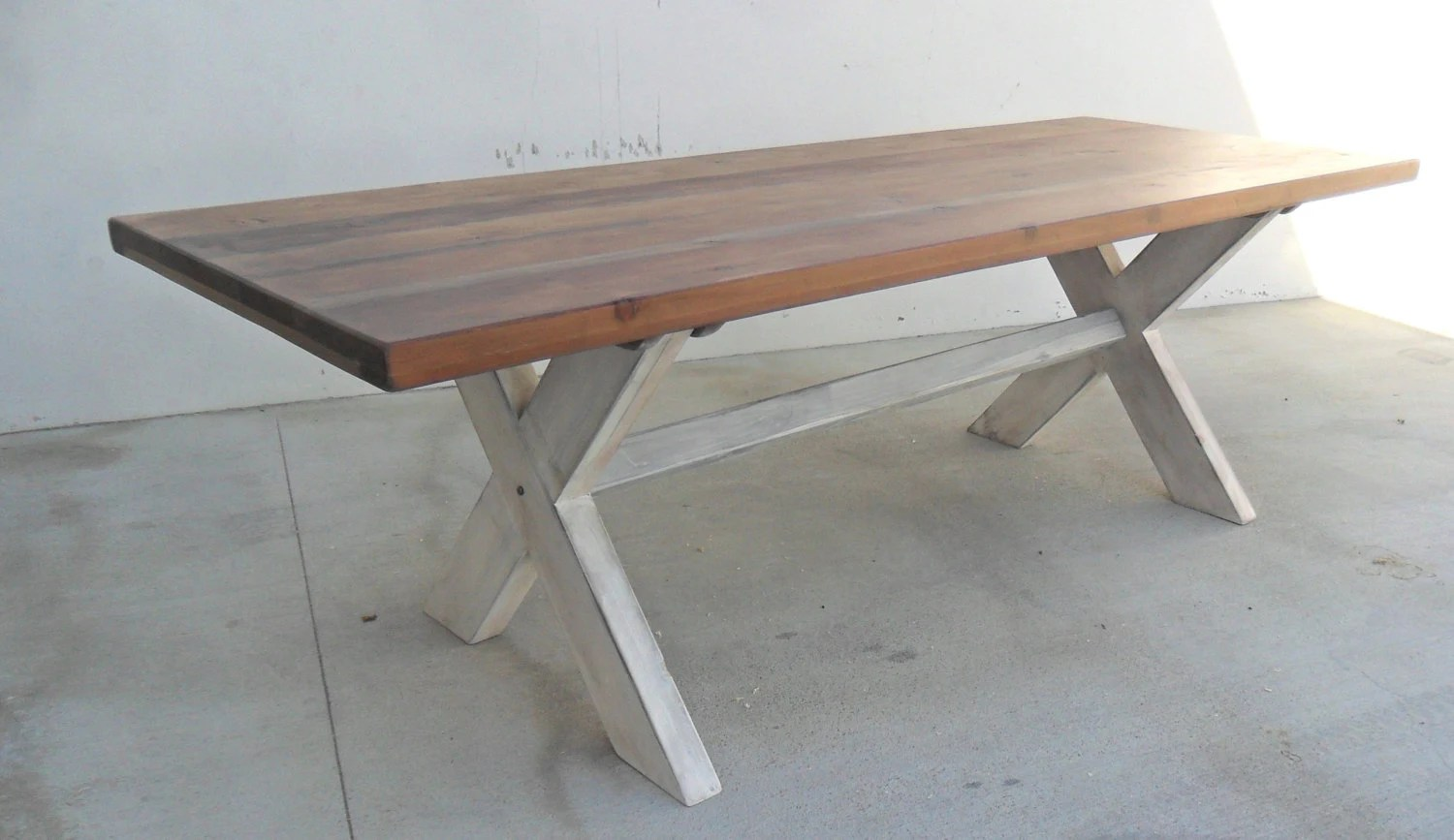 Dining Table 8 Ft Table Trestle Table Reclaimed Wood