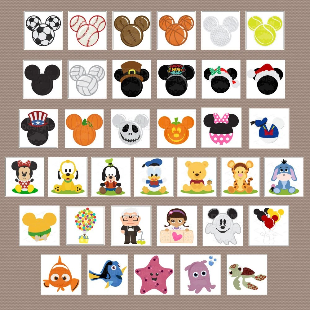 Download 100 Disney SVG Files and Digital Clipart Images by PPbNDesigns