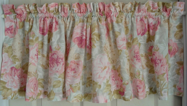 Shabby Vintage Curtain Valance Martha Stewart Everyday Pink