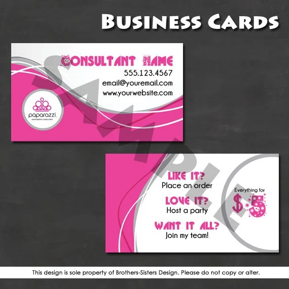 Paparazzi Jewelry Business Card Digital By BrotherSistersDesign