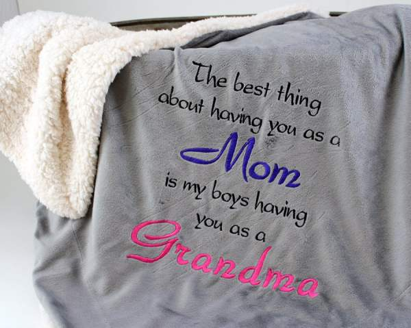 Personalized Grandma Mom Throws and by PersonalStitchGifts ...