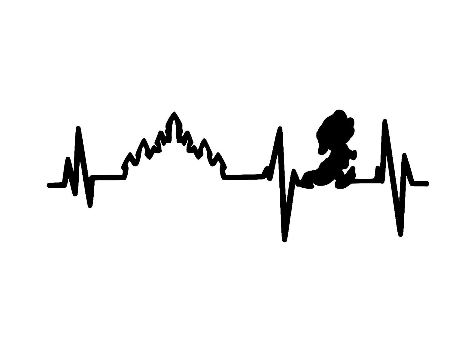 Heartbeat Dopey Marathon Vinyl Car Decal