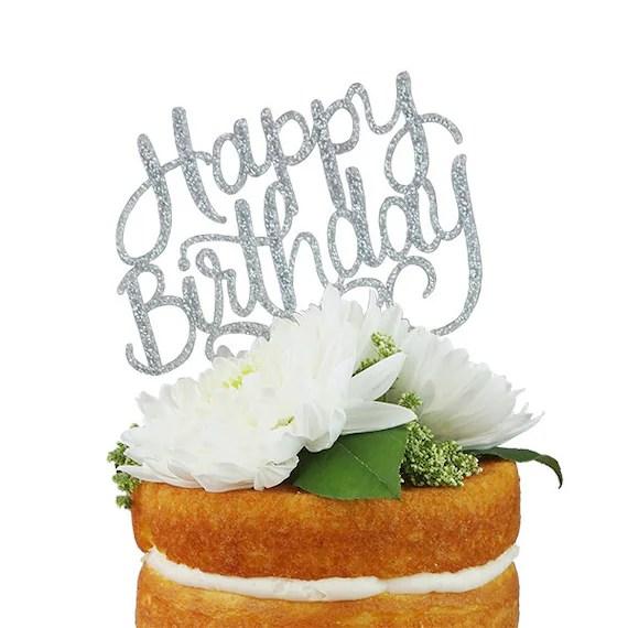Happy Birthday Bj Silver Cake