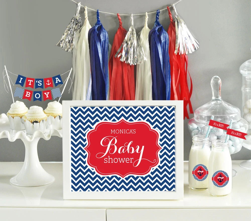 Nautical Baby Shower Decorations For Home