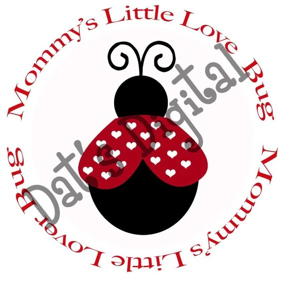 Download Items similar to Mommy's Little Love Bug Cutting or ...