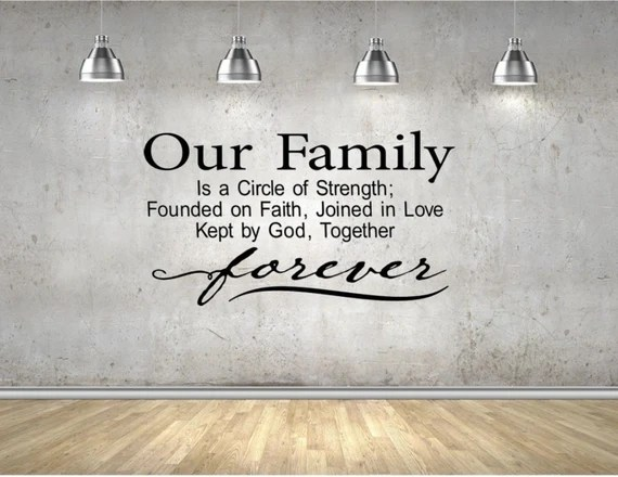 Download Our Family is a Circle of Strength Vinyl Wall Art Decal