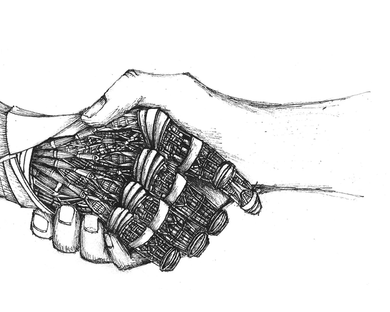 Hand Study Original Drawing Original Art Giclee Print