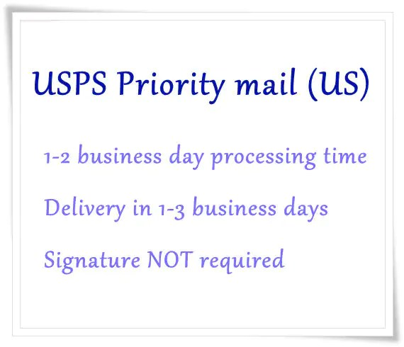 USPS Priority Mail shipping upgrade listing for US by EverLuxe