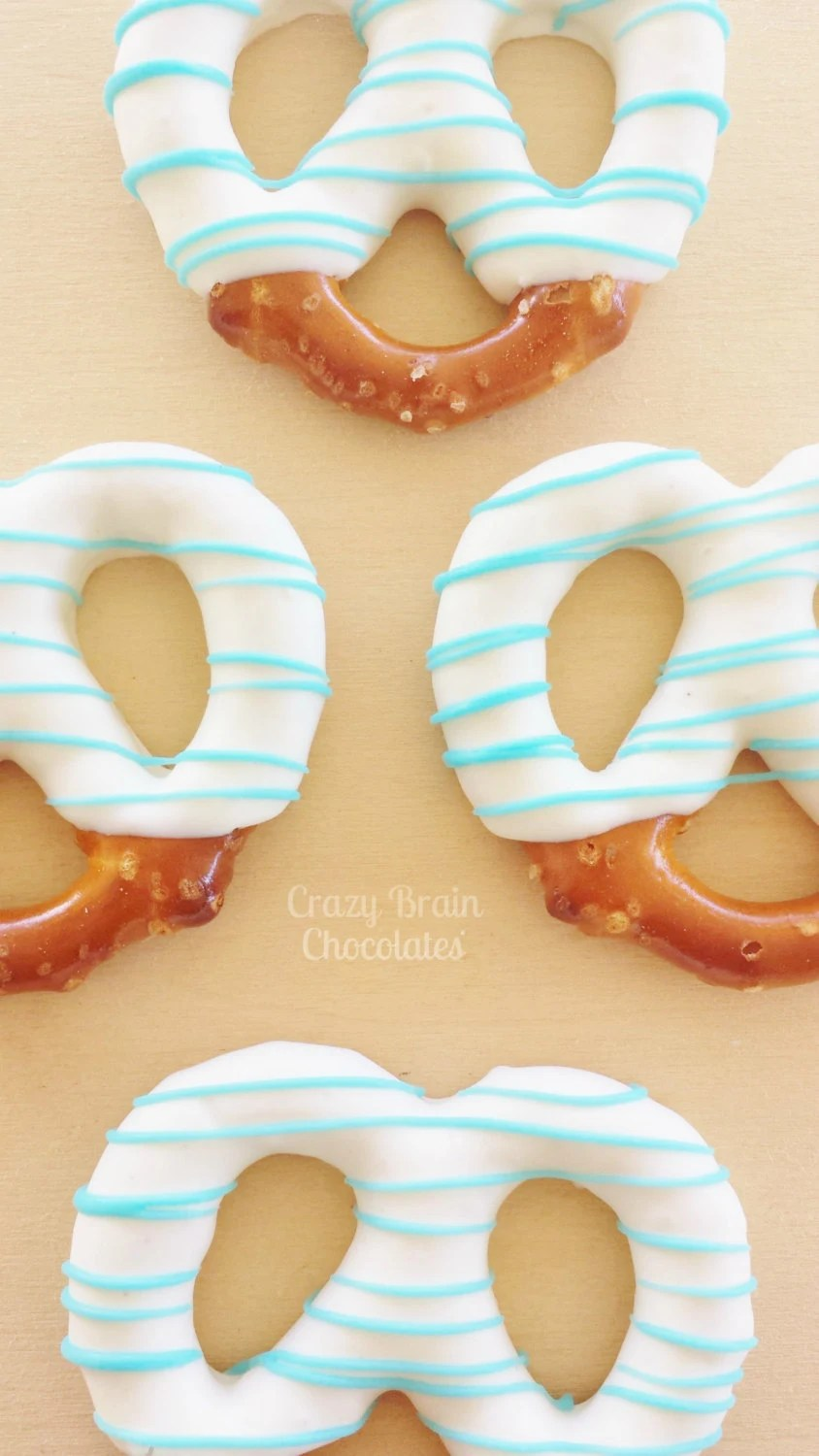 Chocolate Dipped Pretzels For Baby Shower