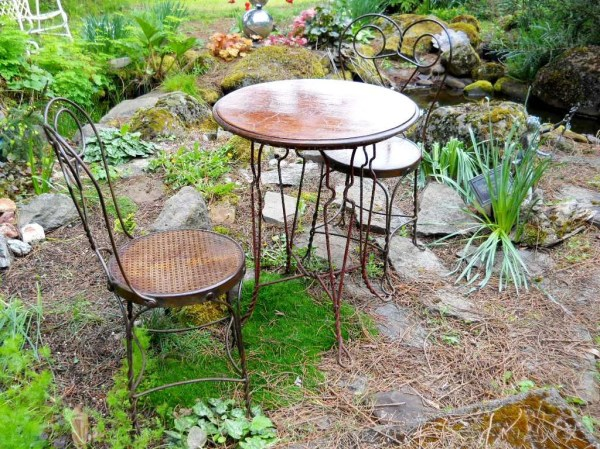 Victorian Industrial Rare Bistro Set French Country Cafe