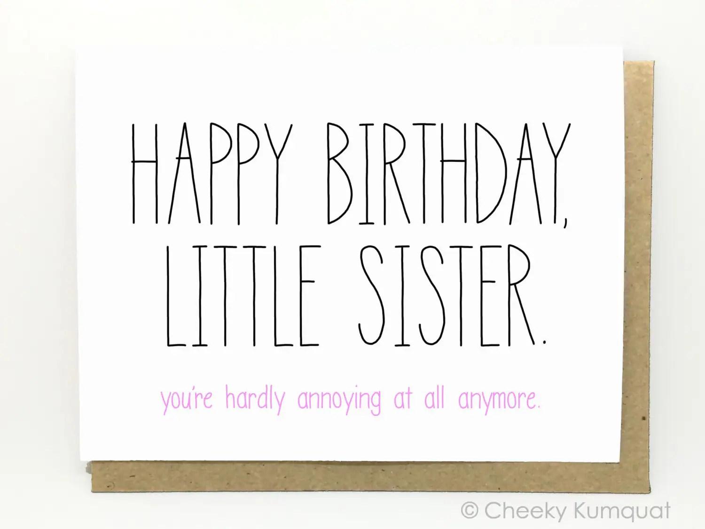 Happy Birthday Jokes Sister