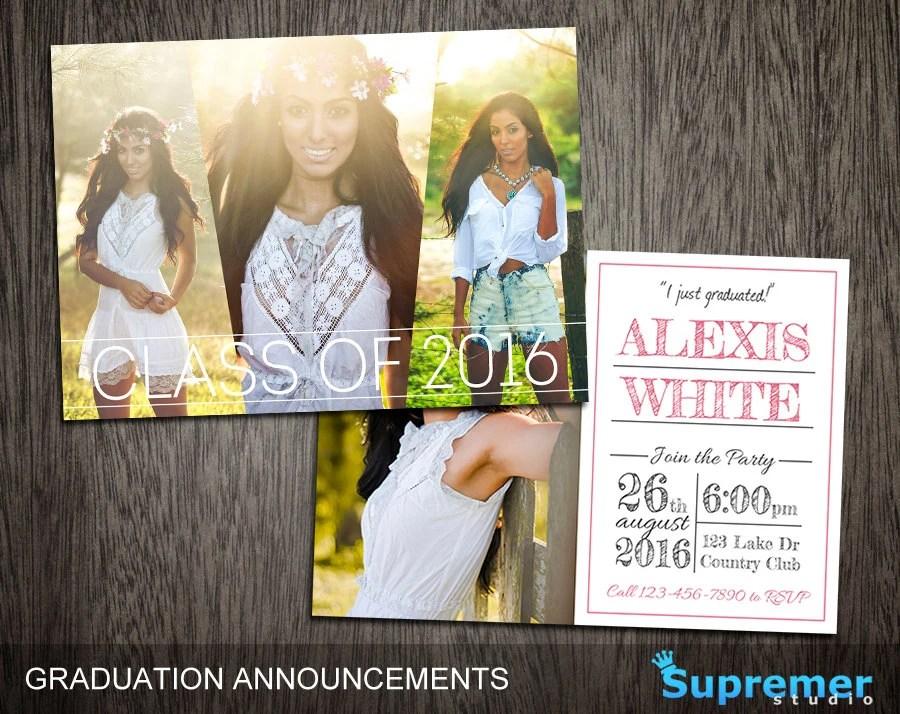 Postcard Graduation Announcements