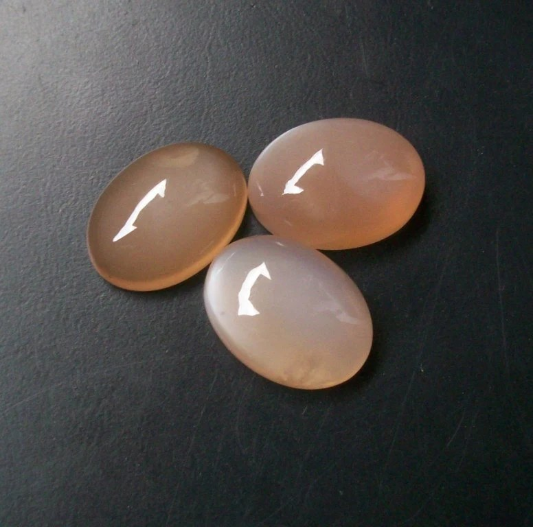 13x18 Mm Natural Genuine PEACH MOONSTONE OVAL Cabochon