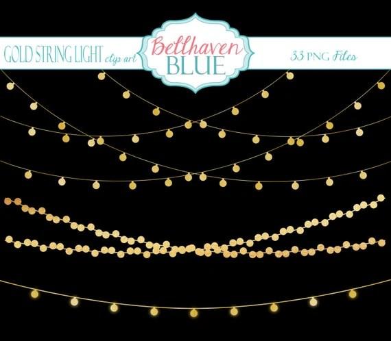 Transparent Lights String Background
