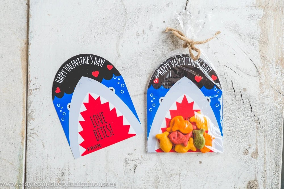 INSTANT DOWNLOAD Printable Classroom Shark Valentines