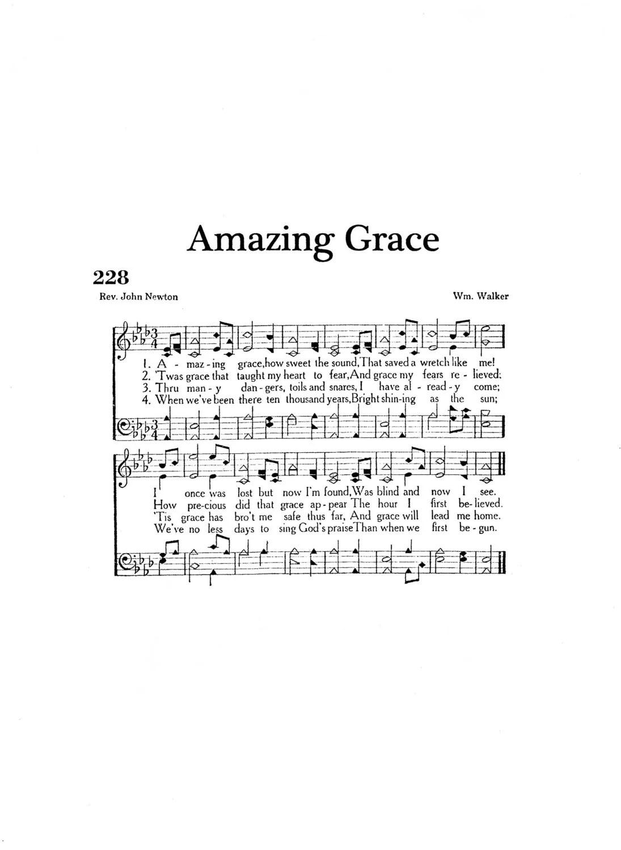 Amazing Grace Christian Hymn Digital Sheet Music Non Script