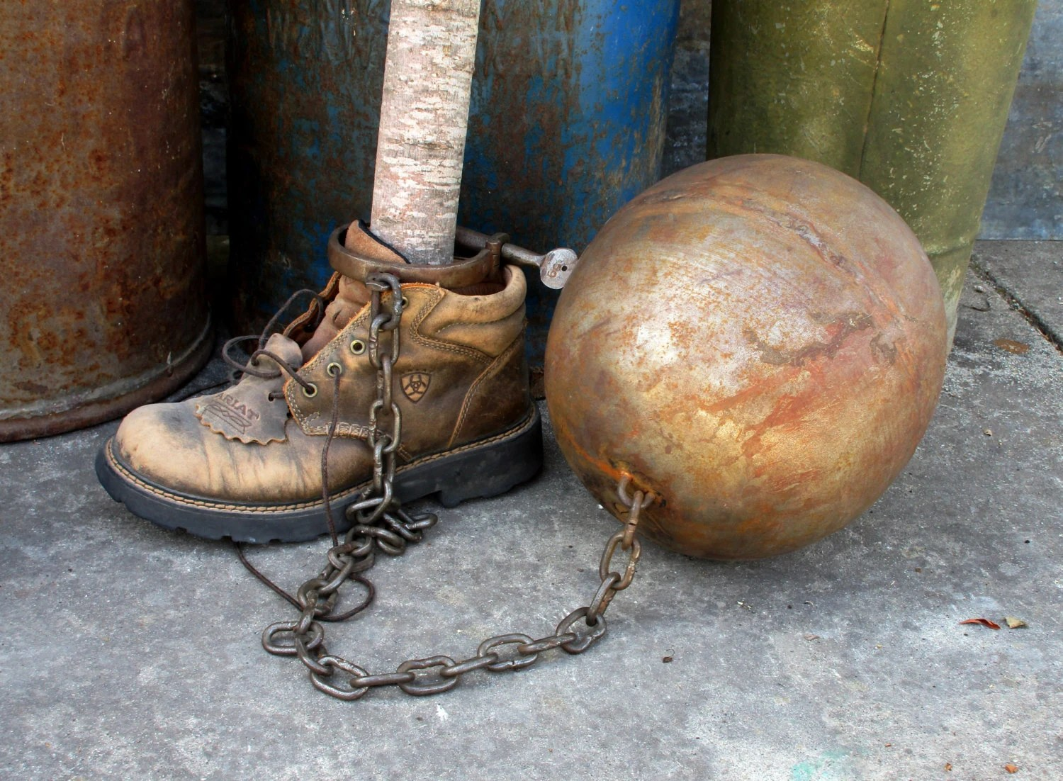 Vintage Prison Ball And Chain