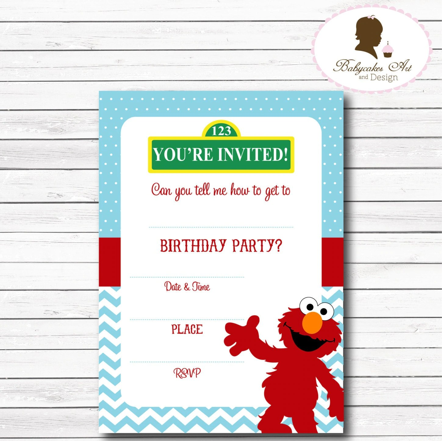 Blank Printable Elmo Invitation Template