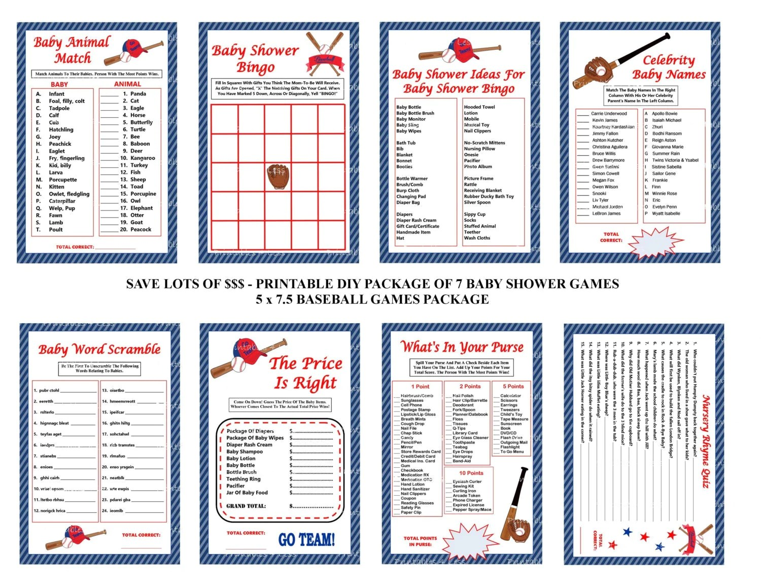 Baseball Baby Shower Games Baseball Theme Baby Games
