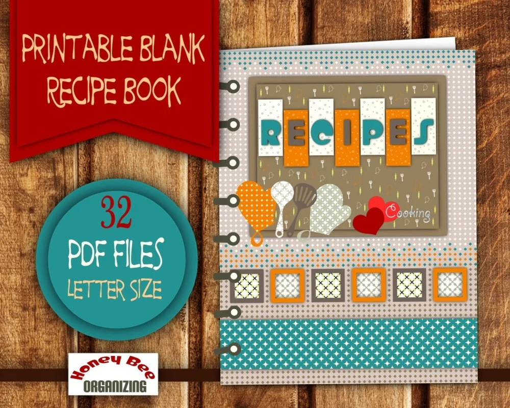 cookbook cover templates free download