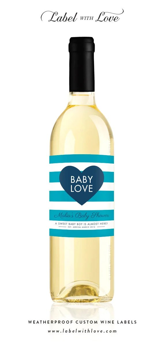 Baby Shower Wine Labels