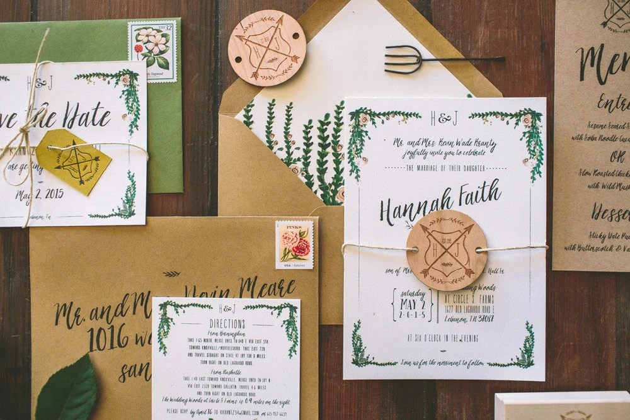 Rustic Garden Wedding Invitations