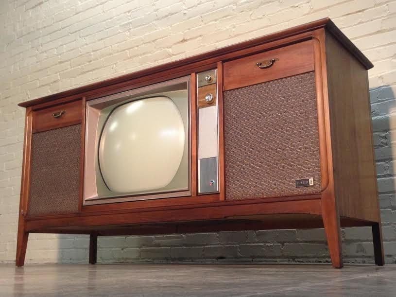 Mid Century Zenith Color Television Stereo Console Radio